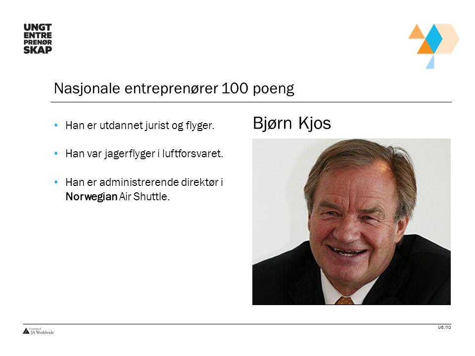 Bjørn Kjos Nasjonale entreprenører 100 poeng