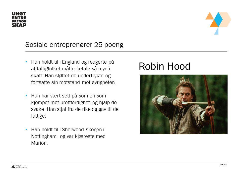 Sosiale entreprenører 25 poeng