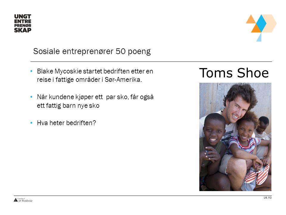 Toms Shoe Sosiale entreprenører 50 poeng