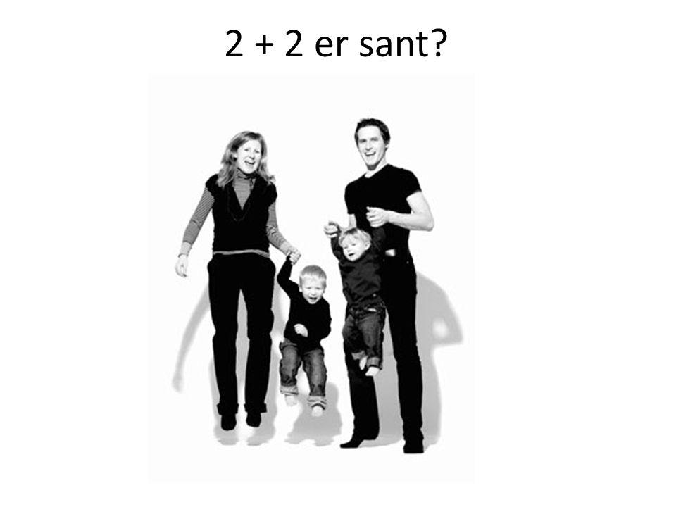 2 + 2 er sant