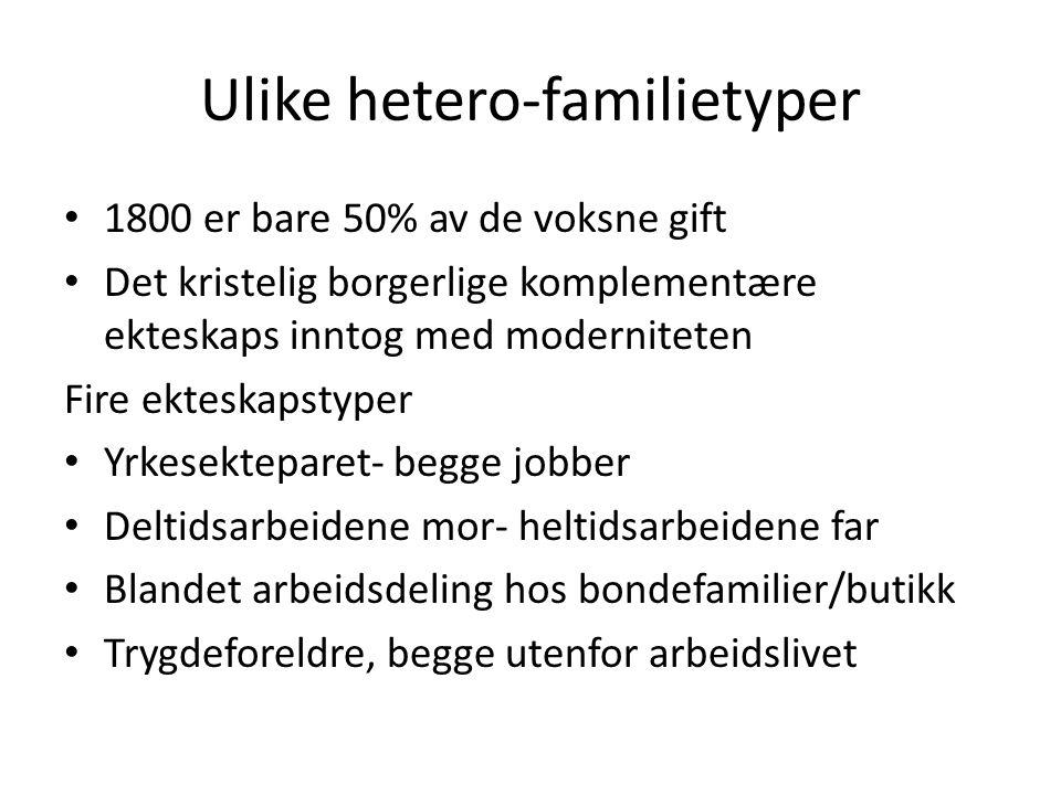 Ulike hetero-familietyper