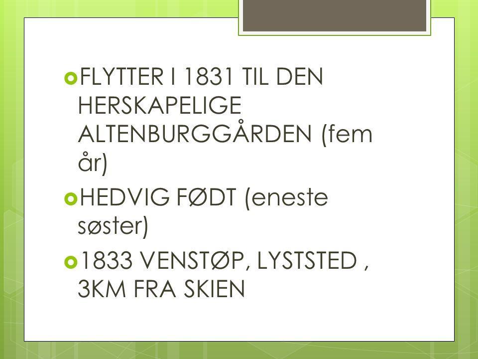 FLYTTER I 1831 TIL DEN HERSKAPELIGE ALTENBURGGÅRDEN (fem år)