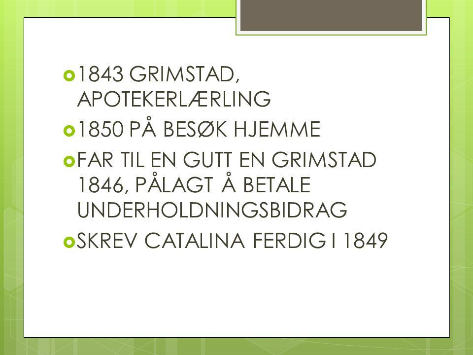1843 GRIMSTAD, APOTEKERLÆRLING