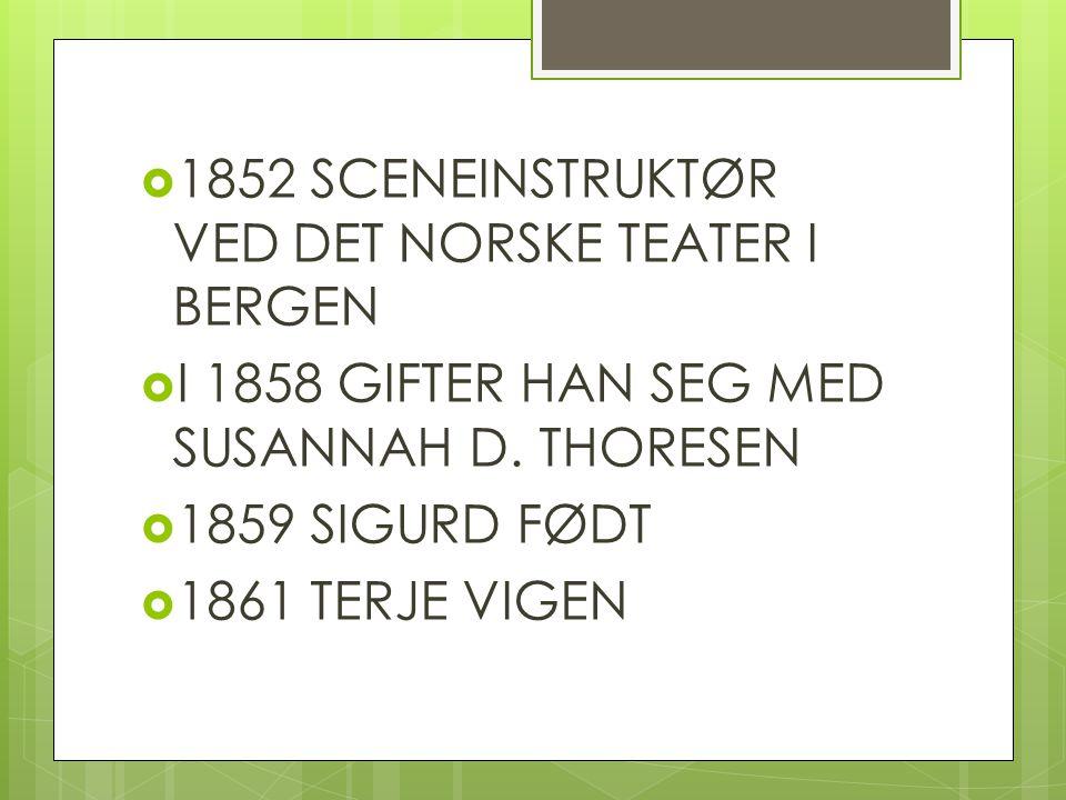 1852 SCENEINSTRUKTØR VED DET NORSKE TEATER I BERGEN