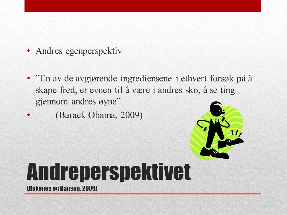 Andreperspektivet (Røkenes og Hansen, 2009)