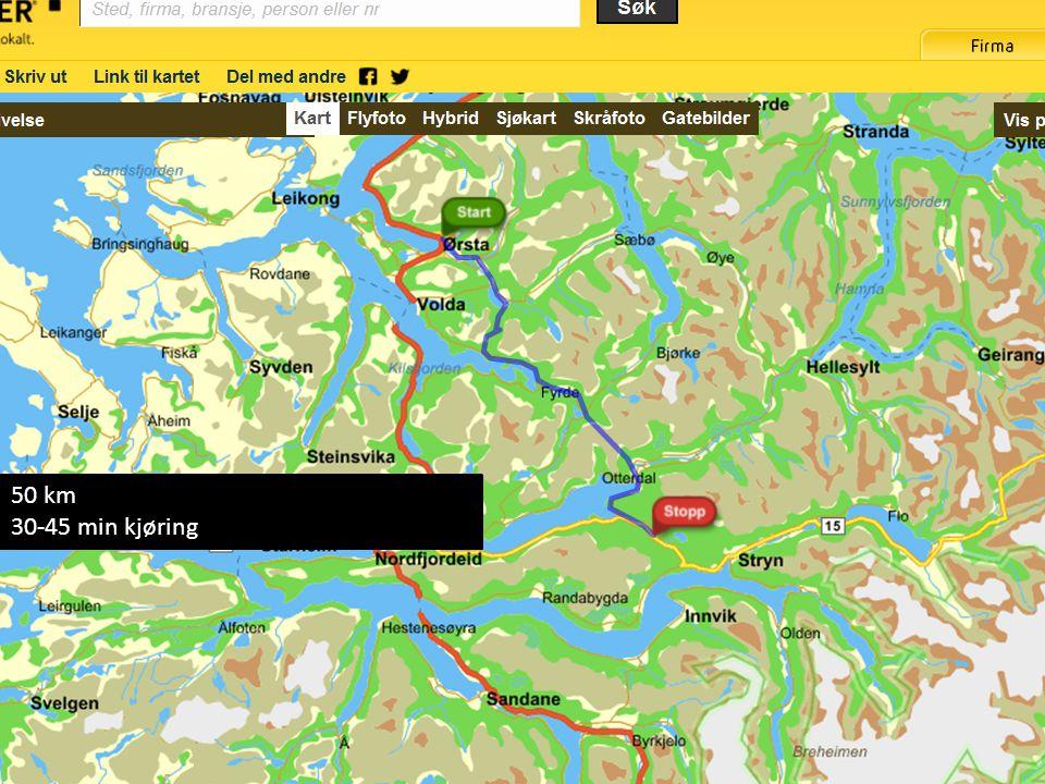 Ørsta-Stryn 50 km 30-45 min kjøring 05.09.2011