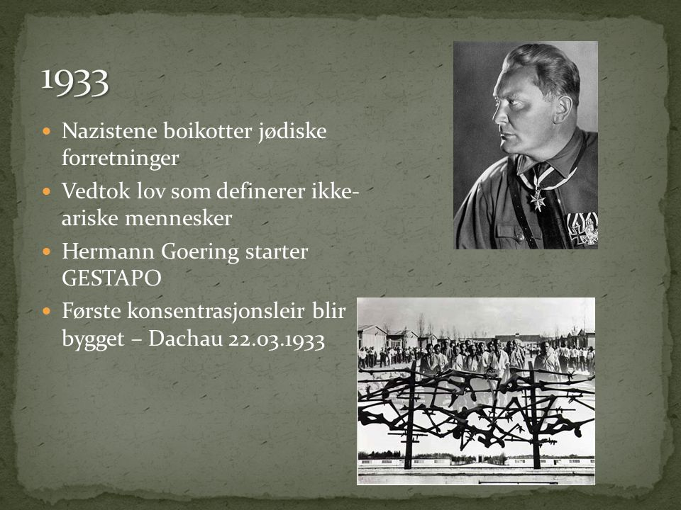 1933 Nazistene boikotter jødiske forretninger