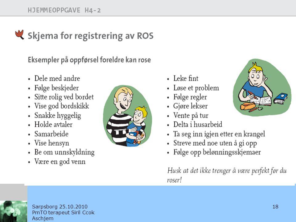 Sarpsborg 25.10.2010 PmTO terapeut Siril Ccok Aschjem