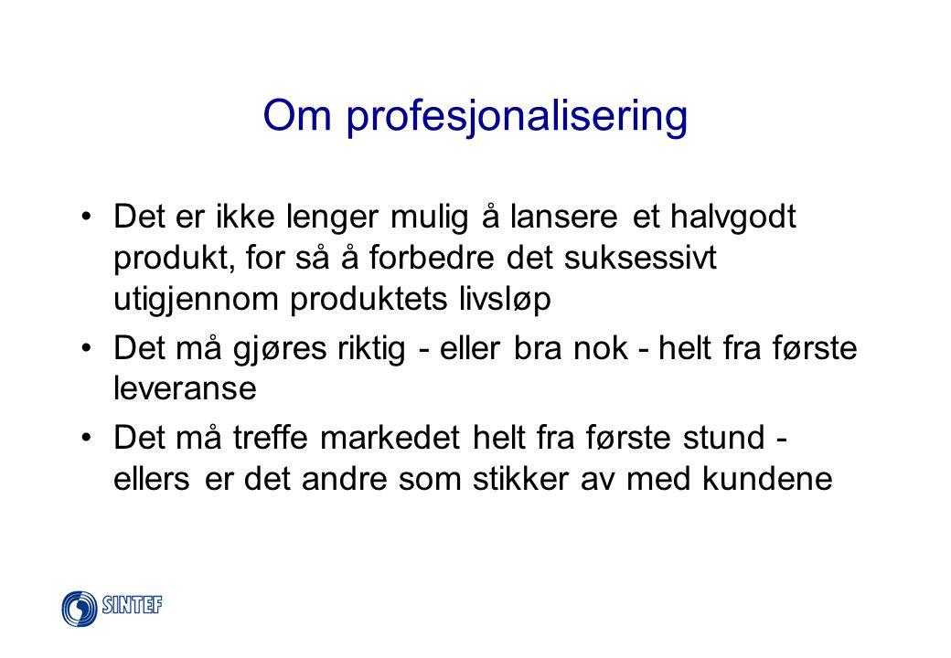 Om profesjonalisering