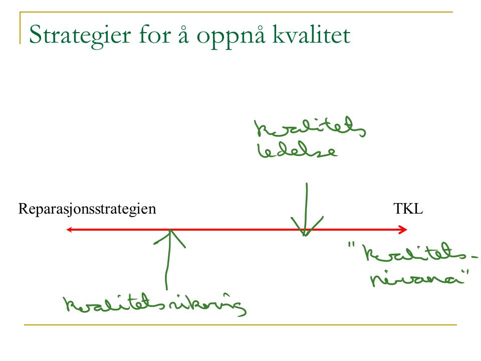 Strategier for å oppnå kvalitet