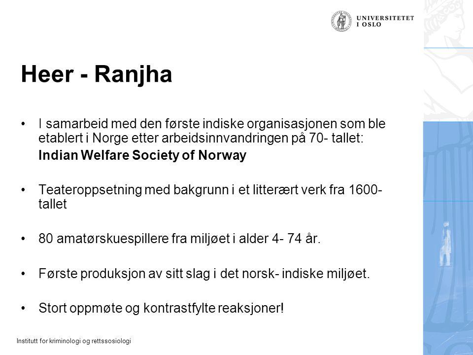 Heer - Ranjha I samarbeid med den første indiske organisasjonen som ble etablert i Norge etter arbeidsinnvandringen på 70- tallet: