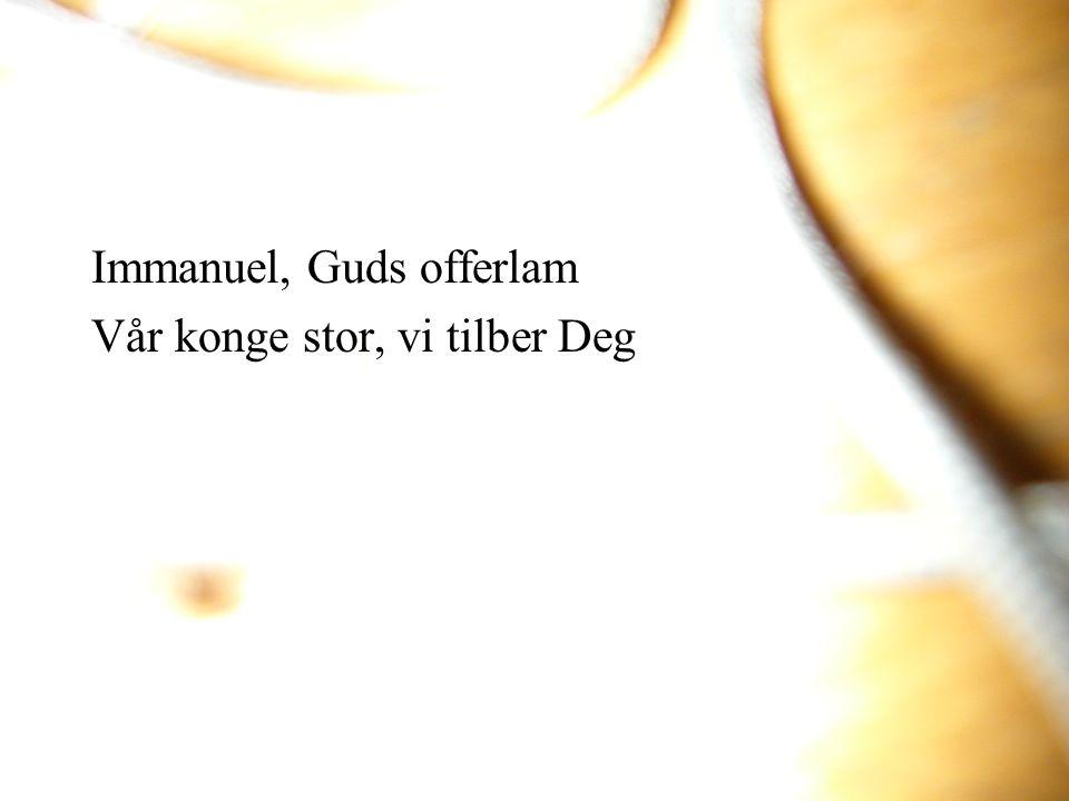 Immanuel, Guds offerlam