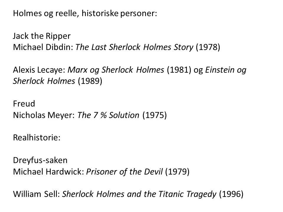 Holmes og reelle, historiske personer: