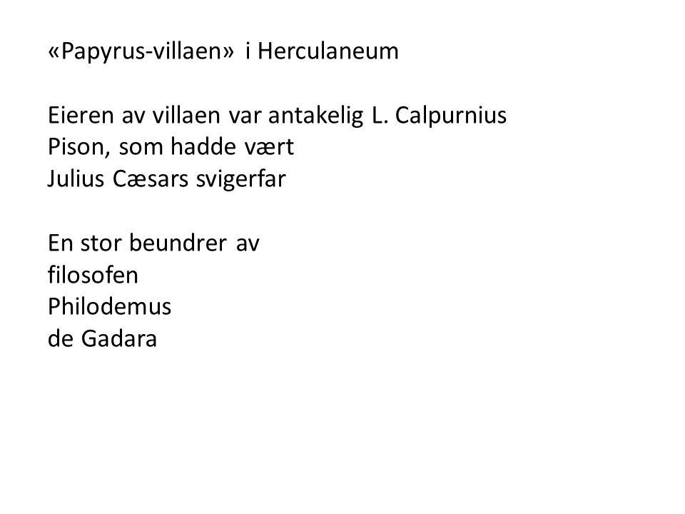 «Papyrus-villaen» i Herculaneum