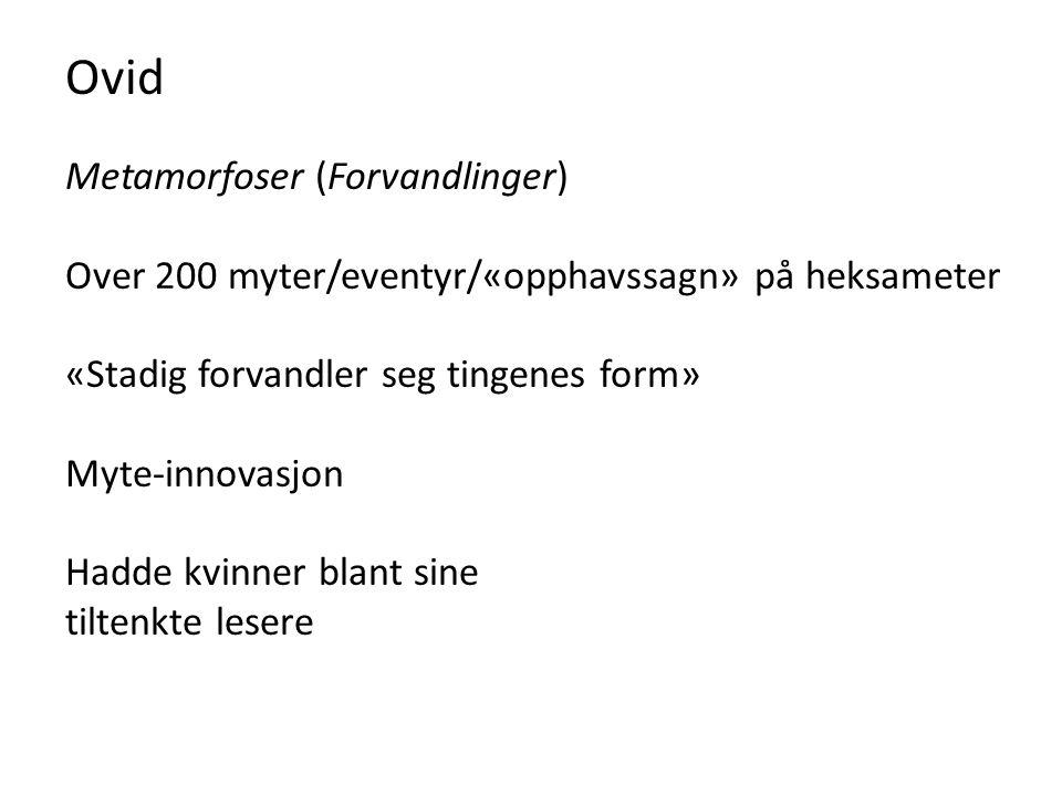 Ovid Metamorfoser (Forvandlinger)