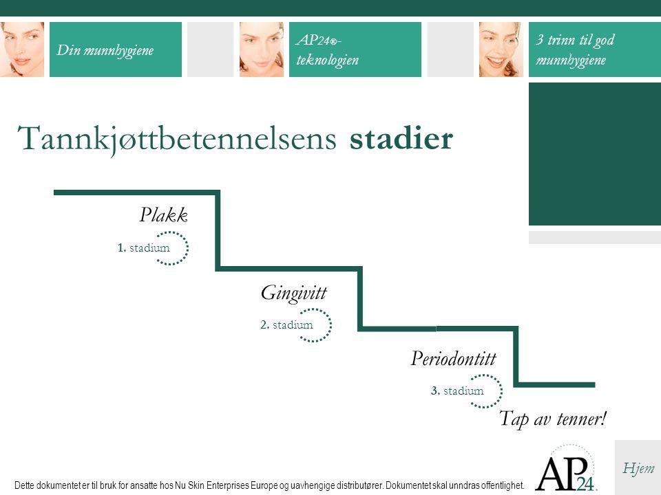 Tannkjøttbetennelsens stadier