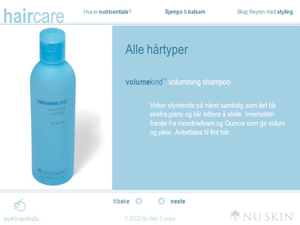 Alle hårtyper volumekind™ volumising shampoo