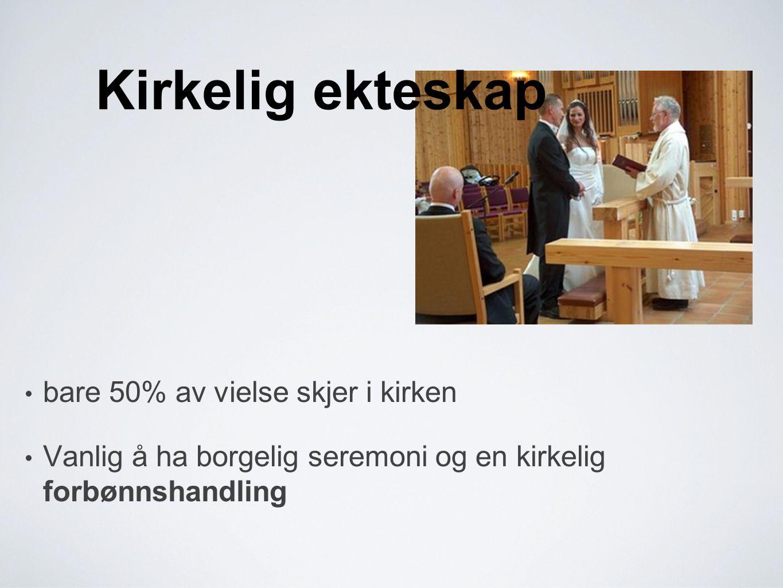Kirkelig ekteskap bare 50% av vielse skjer i kirken