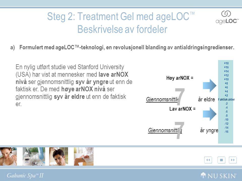 Steg 2: Treatment Gel med ageLOC™ Beskrivelse av fordeler