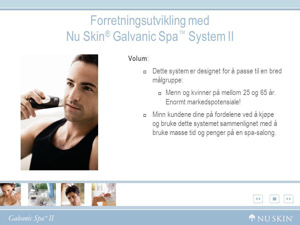 Forretningsutvikling med Nu Skin® Galvanic Spa™ System II