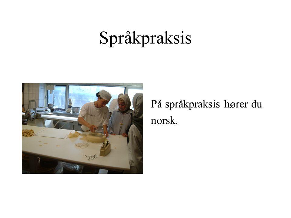 Språkpraksis På språkpraksis hører du norsk.