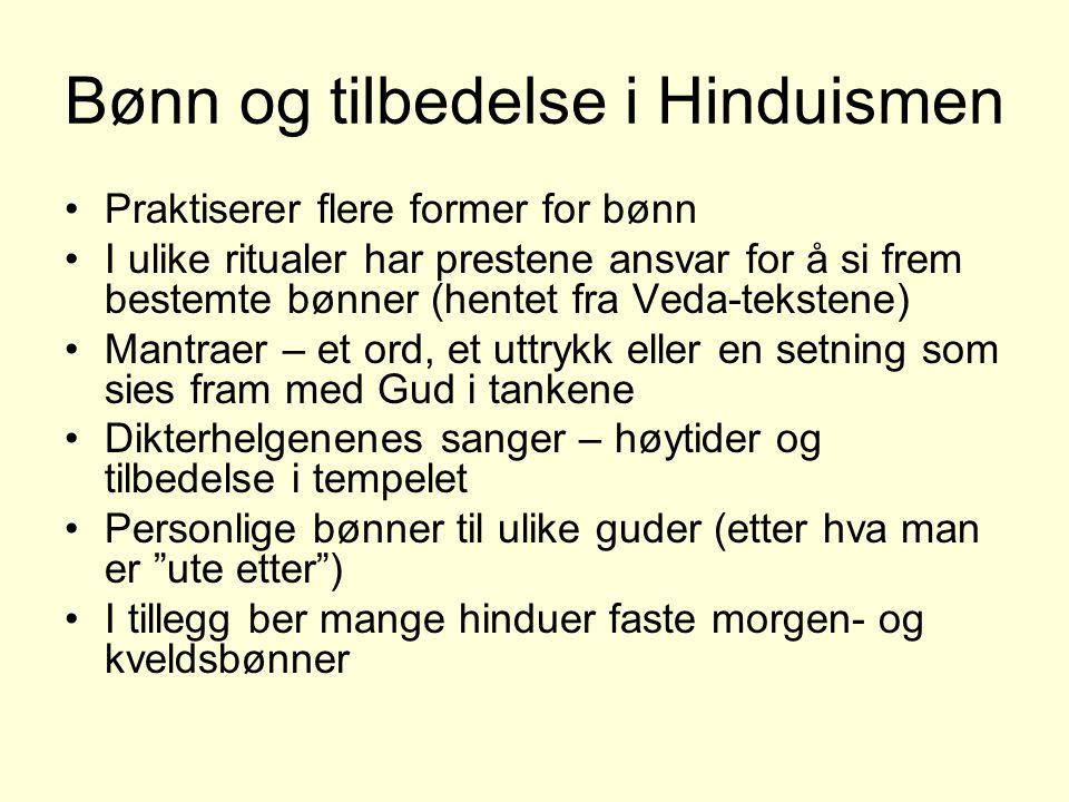Bønn og tilbedelse i Hinduismen