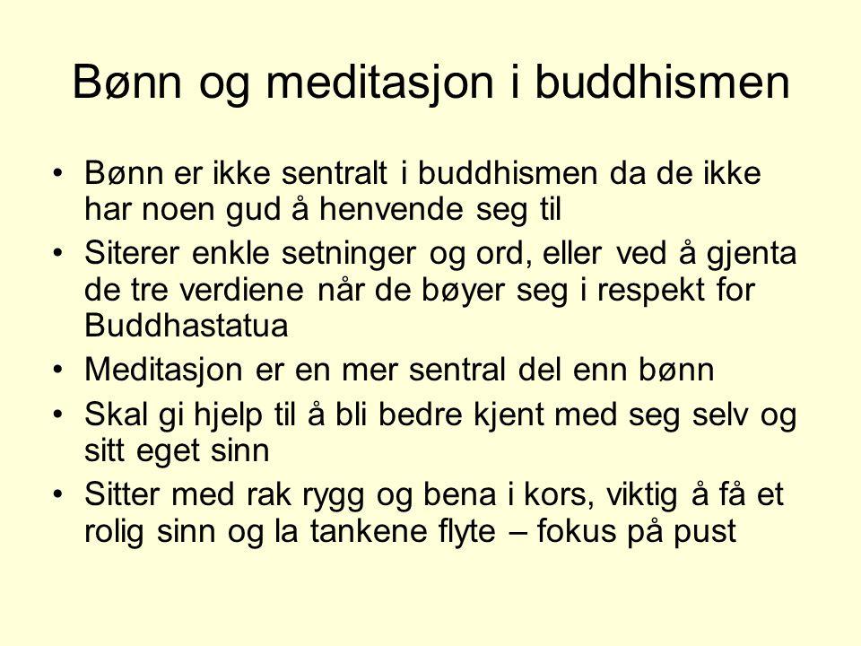 Bønn og meditasjon i buddhismen