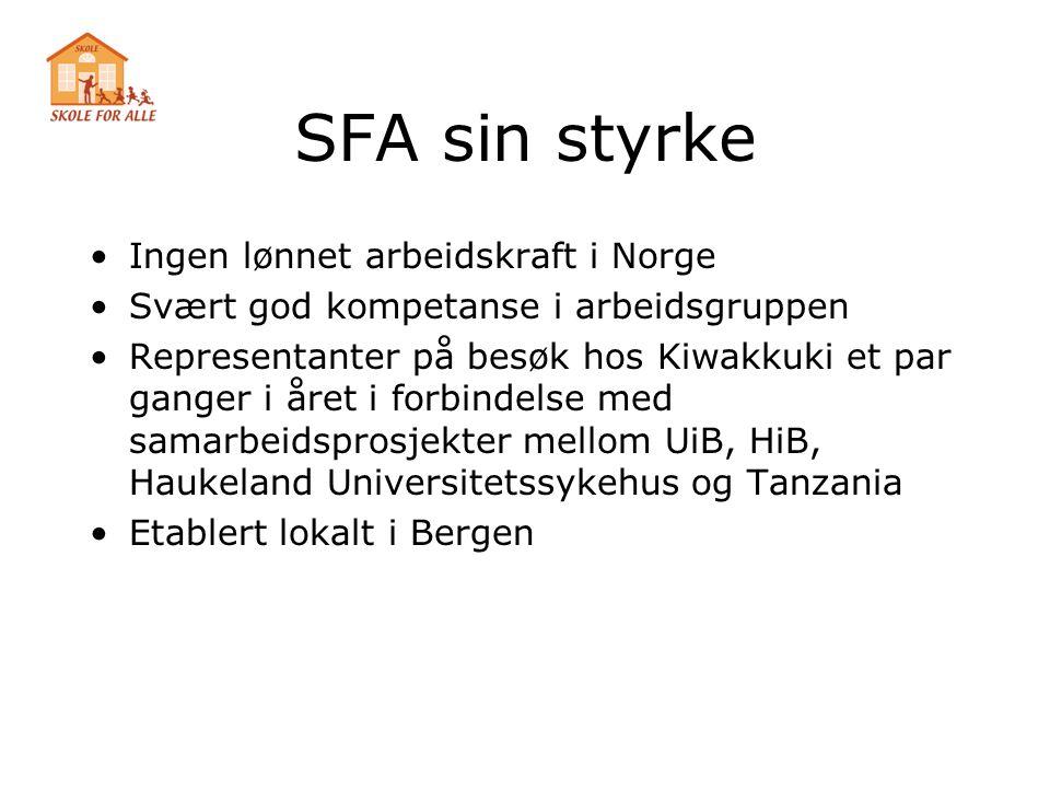 SFA sin styrke Ingen lønnet arbeidskraft i Norge