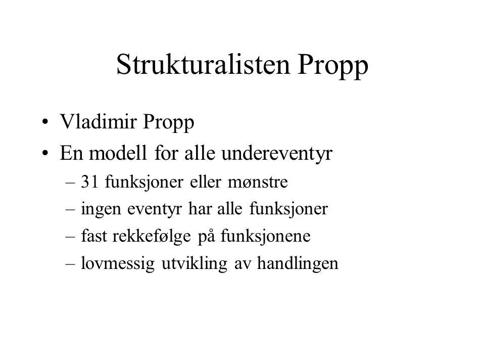 Strukturalisten Propp