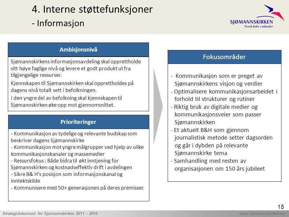 4. Interne støttefunksjoner - Informasjon