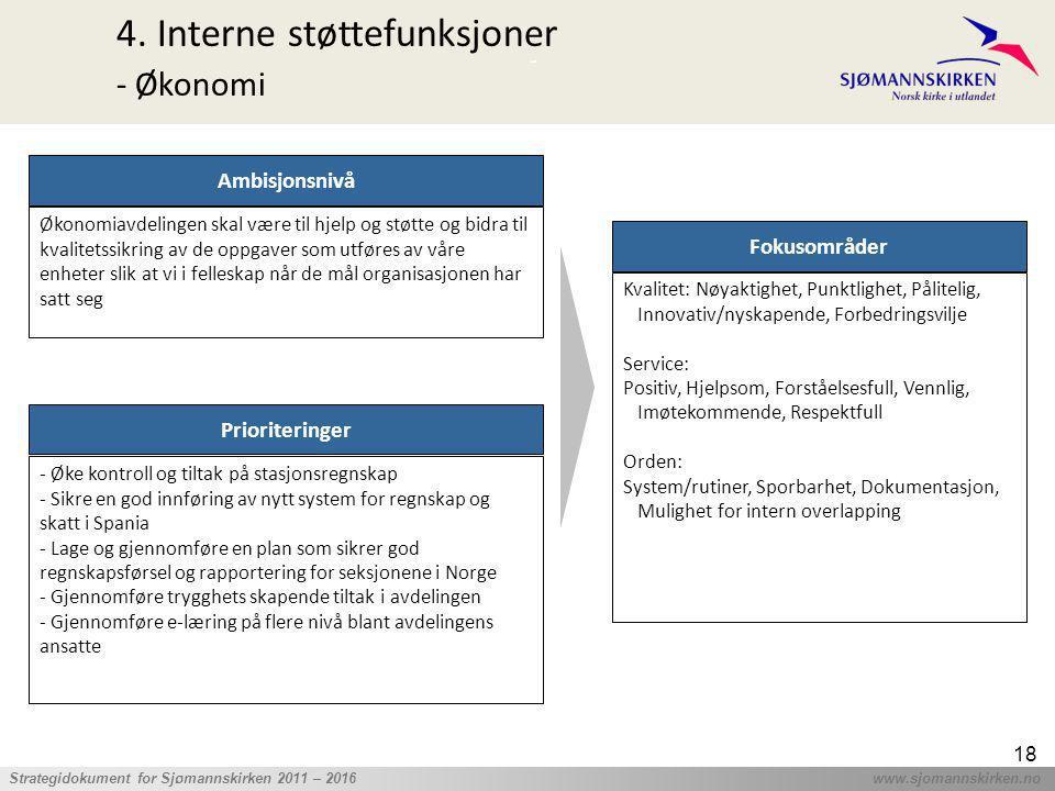 4. Interne støttefunksjoner - Økonomi