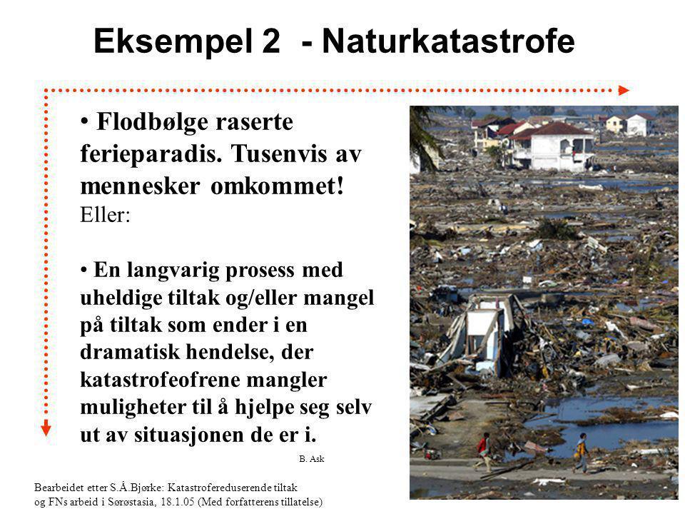 Eksempel 2 - Naturkatastrofe