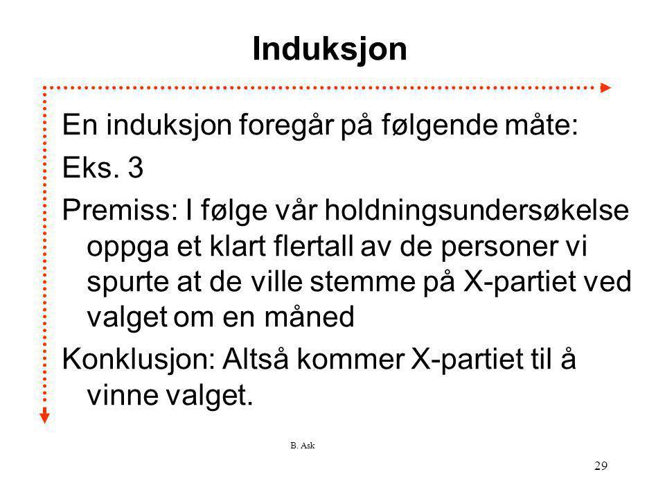 Induksjon En induksjon foregår på følgende måte: Eks. 3