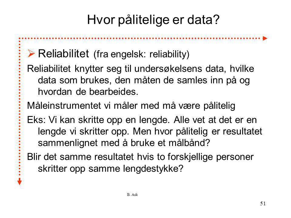 Hvor pålitelige er data