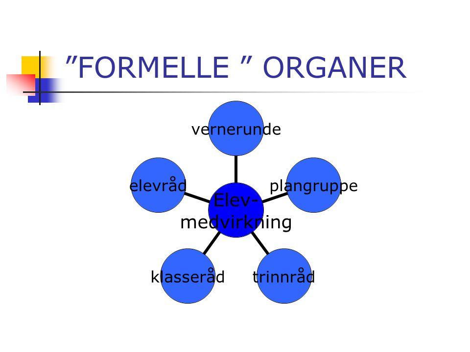 FORMELLE ORGANER
