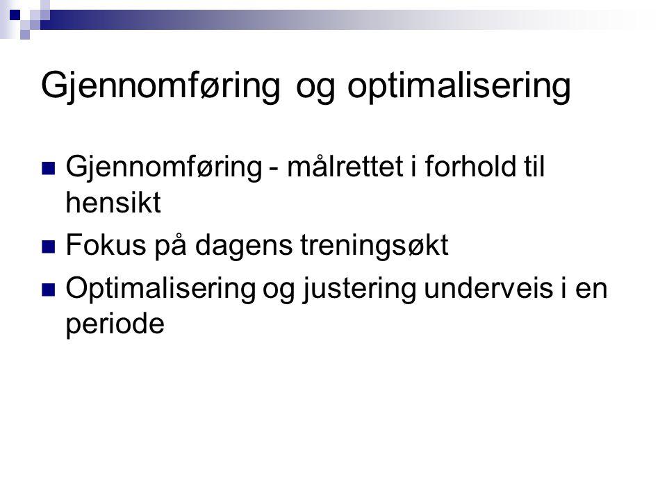 Gjennomføring og optimalisering