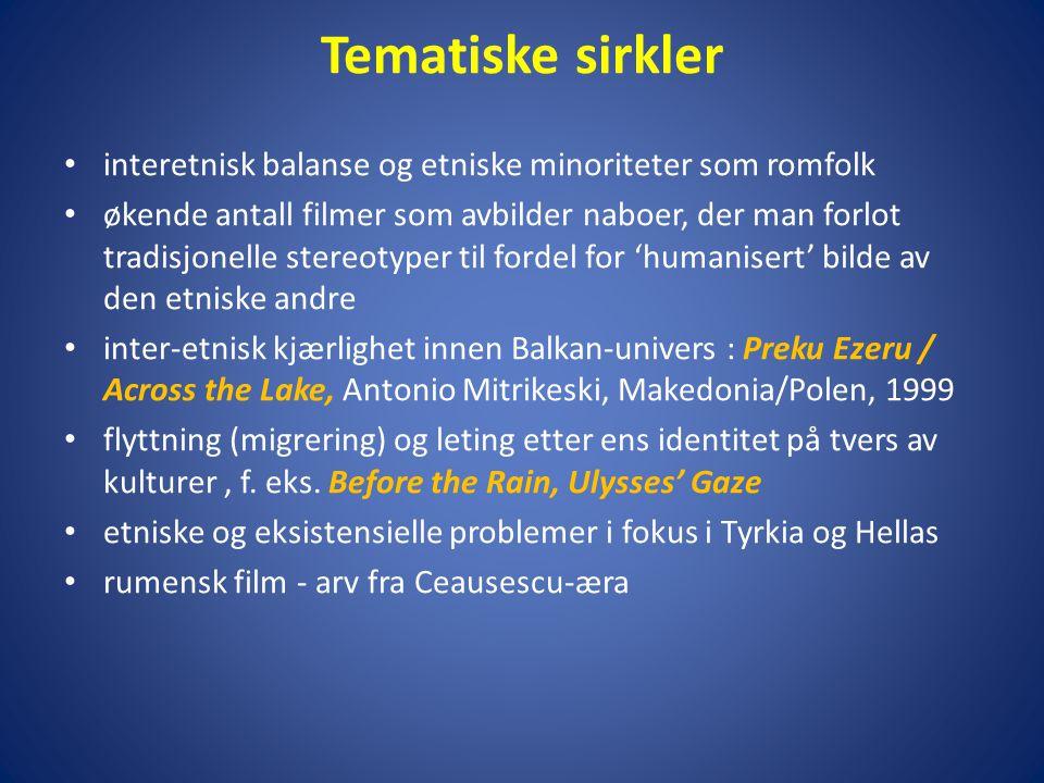 Tematiske sirkler interetnisk balanse og etniske minoriteter som romfolk.