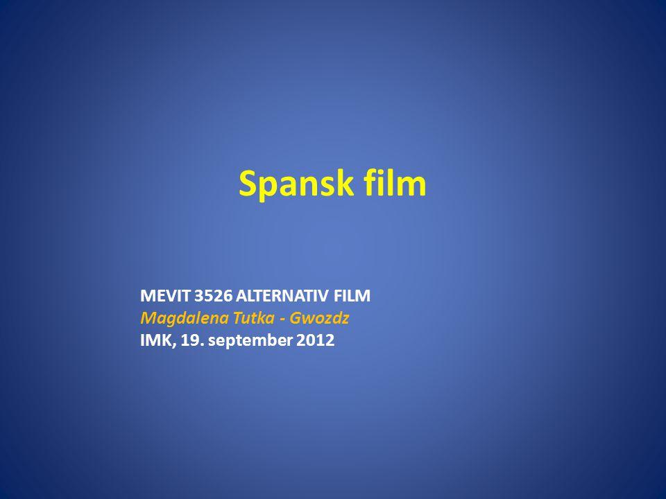 Spansk film MEVIT 3526 ALTERNATIV FILM Magdalena Tutka - Gwozdz