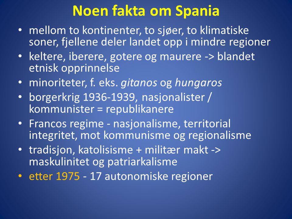 Noen fakta om Spania mellom to kontinenter, to sjøer, to klimatiske soner, fjellene deler landet opp i mindre regioner.