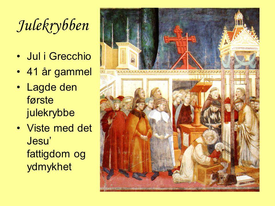 Julekrybben Jul i Grecchio 41 år gammel Lagde den første julekrybbe