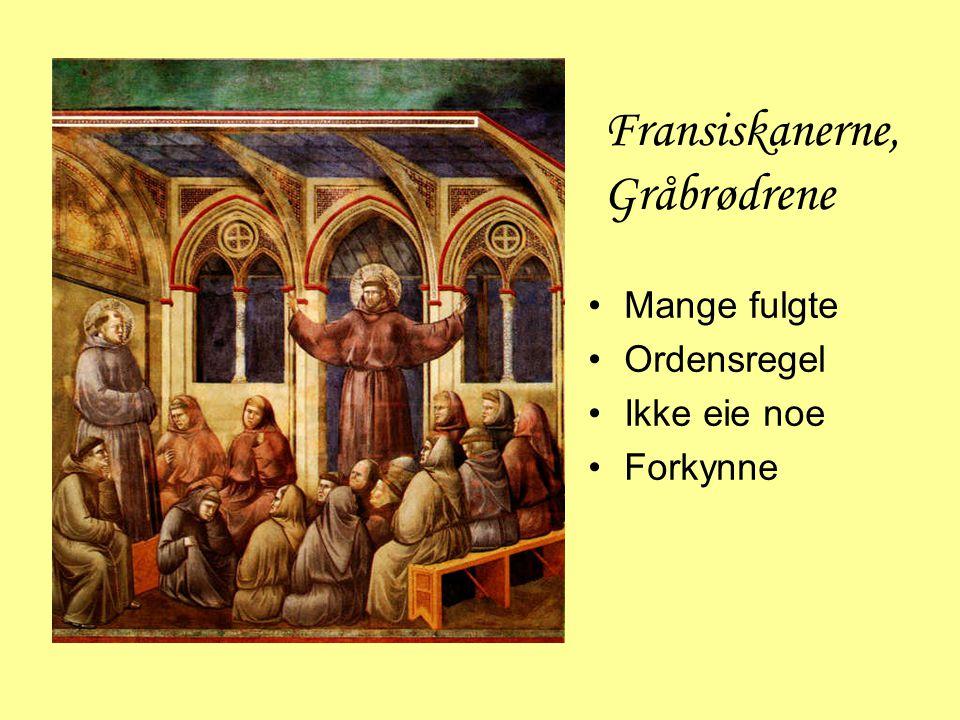 Fransiskanerne, Gråbrødrene