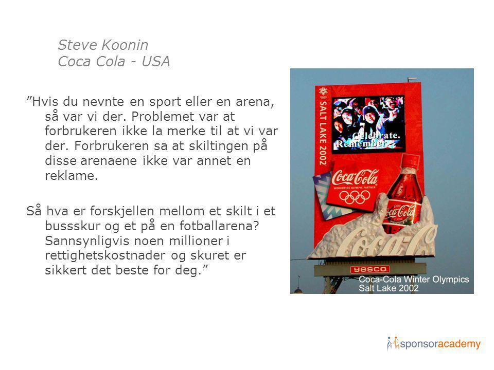 Steve Koonin Coca Cola - USA