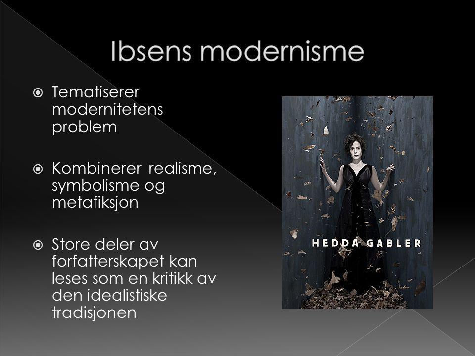 Ibsens modernisme Tematiserer modernitetens problem