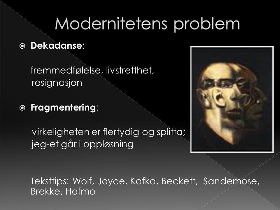 Modernitetens problem
