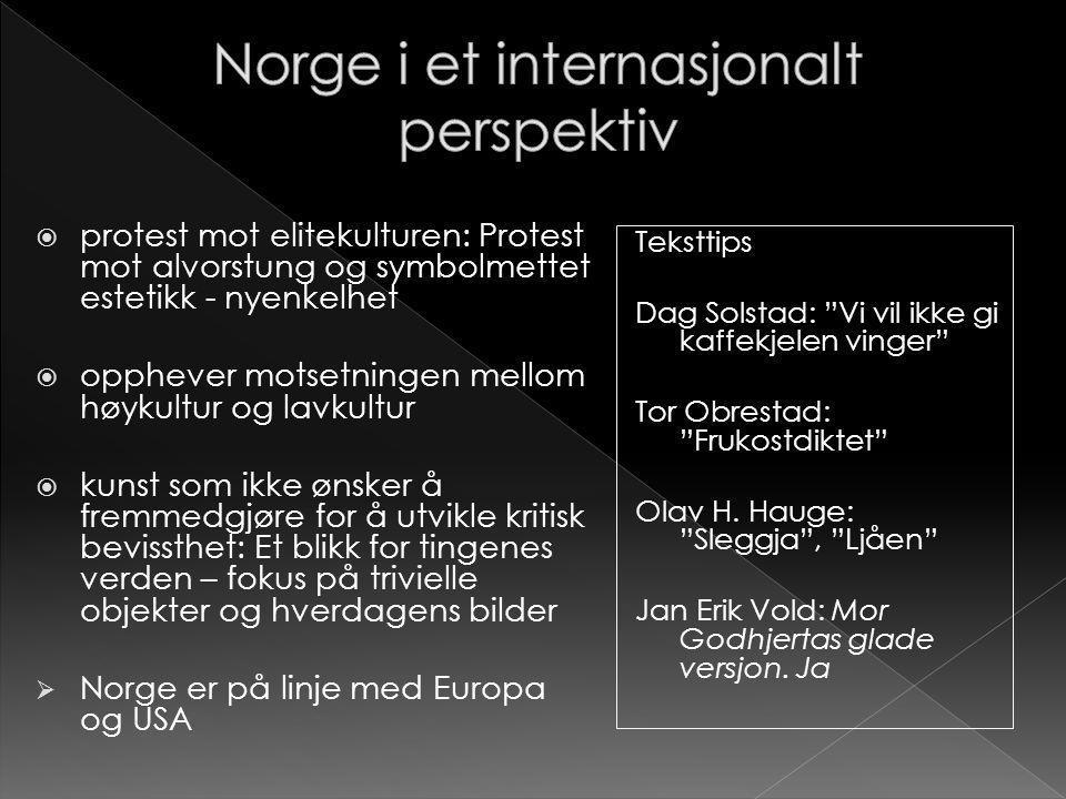 Norge i et internasjonalt perspektiv