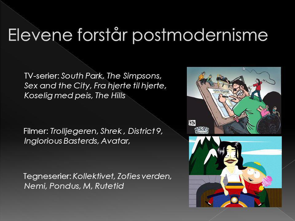 Elevene forstår postmodernisme