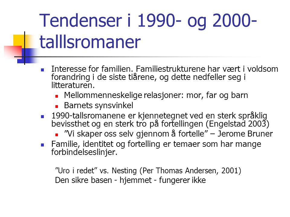 Tendenser i 1990- og 2000-talllsromaner