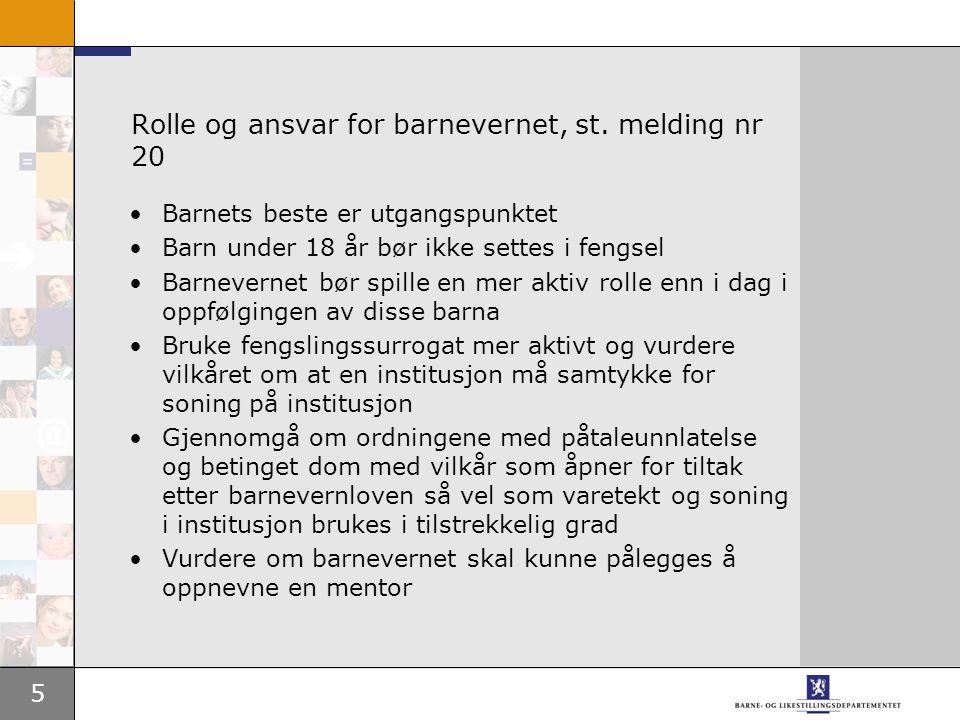 Rolle og ansvar for barnevernet, st. melding nr 20