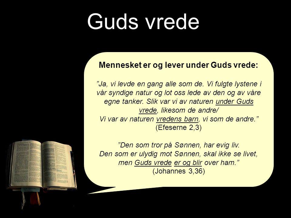 Mennesket er og lever under Guds vrede: