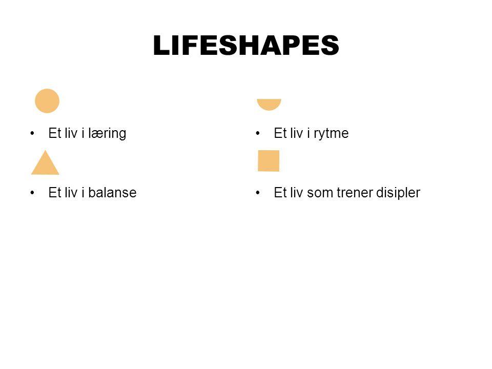 LIFESHAPES Et liv i læring Et liv i balanse Et liv i rytme